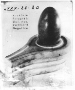 The Hindu black shiva linga in the black stone yoni (vagina) resembling the Muslim idol in Mecca. The linga represents male power and the yoni female power.